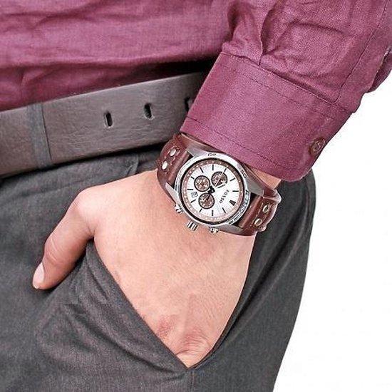 Fossil CH2565 - Horloge - 44 mm - Bruin