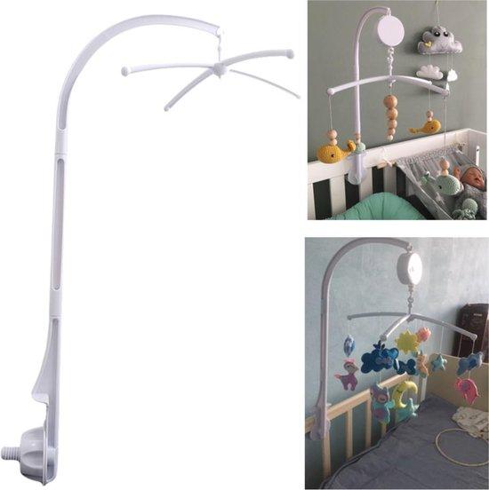 Product: WiseGoods - Mobiel met Rammelaar Baby - Wieg Houder Arm Beugel Set - Carrousel - 360 Graden Roterende Wieg Klem, van het merk WiseGoods