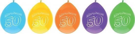 Abraham thema party ballonnen 50 jaar 20 stuks - Feestartikelen en versieringen