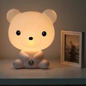 Schattig Beer Nachtlampje - Kinderlamp - Babykamer Nachtlamp - Cute Cartoon Bear Night Light - Baby and children's Room LED Night Light Lamp - LED Beer Nachtlamp - Schattig Beer Lampje - Nachtlamp