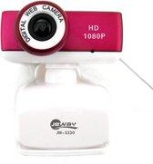 Jeway JW-5330 Webcam met Microfoon voor Laptop & Computer (usb plug & play) wit/paars