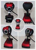 Jeway JW-0066 Webcam met Microfoon voor Laptop & Computer (usb plug & play) zwart/blauw