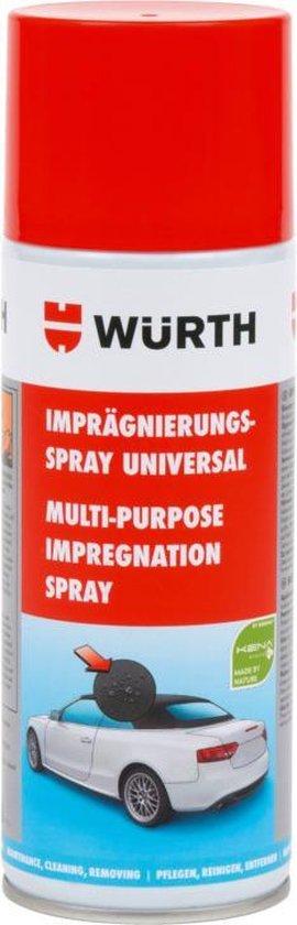 wurth IMPREGNEERSPRAY UNIVERSEEL - textiel reiniger - textielreiniger - cabriodak reiniger - cabrio dak reiniger