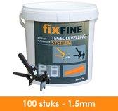 Tegel Levelling Systeem - Nivelleersysteem - Starter Set - 100 stuks – 1,5mm