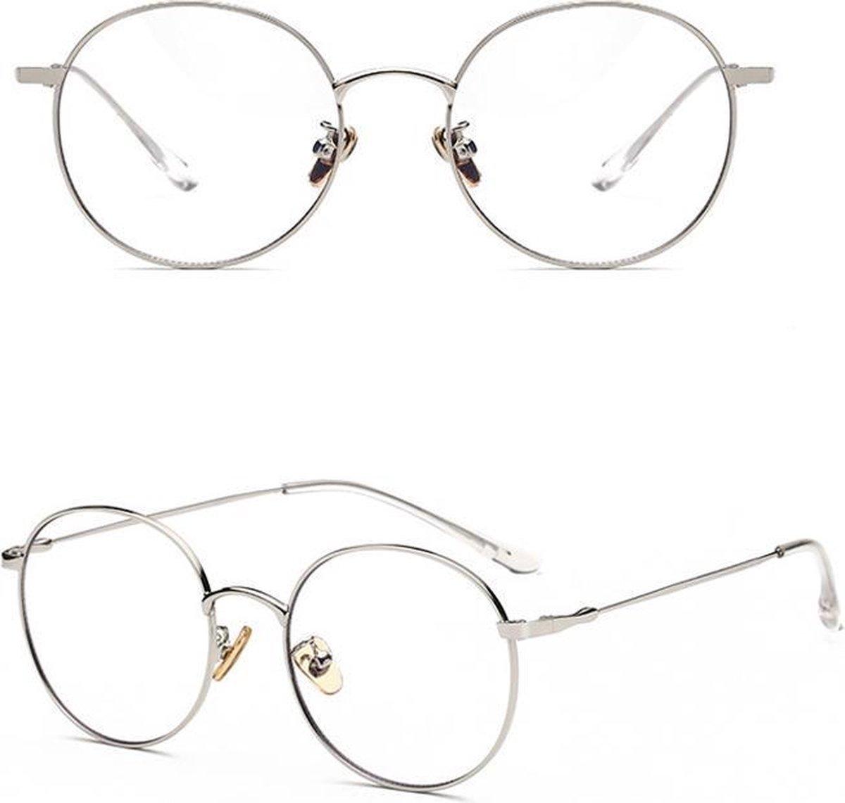Merchannice Computerbril Harris - Blauw licht Bril - Zilver