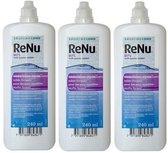 Renu MPS sensitive eyes - 3 x 240 ml - incl. 3 x lenshouder - zachte contactlenzen - voordeelverpakking
