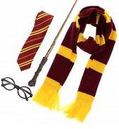 4 delige Wizard/Witch Harry Potter set multicolours - Verkleed set - Verjaardag - Carnaval - Halloween