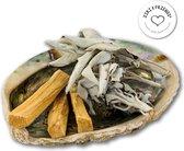 Reinig je huis pakket XL ORIGINAL | Jiri Friends | Smudge Kit | Smudgekit Witte salie, Palo Santo sticks, Abalone schelp