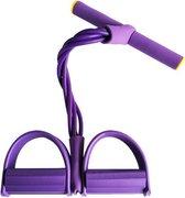 Elastische Buikspiertrainer - Unisex - Paars - Veel Verschillende Oefenmogelijkheden