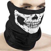 OWO - Doodshoofd gezichtsmasker mondkapje met skull print - motor bandana - mask - skimasker - snowboardmasker - motormasker - doodskop - schedel - ZWART
