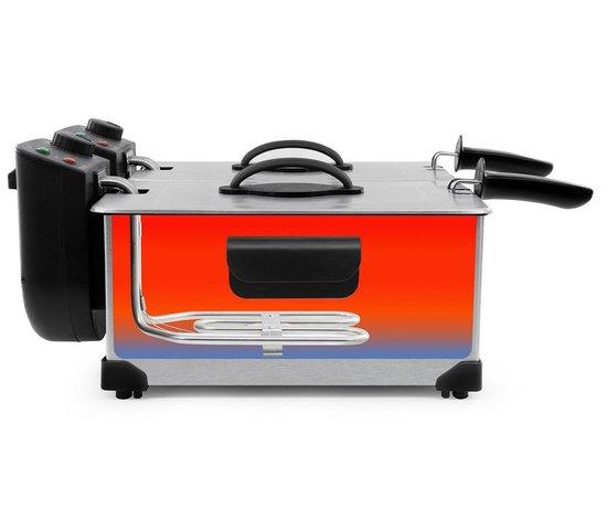 TDF6001S - dubbele frituurpan - 2 x 3 liter - koude zone - 2 x 1800 watt - rvs