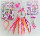 Jewellicious Designs Knutselpakket Unicorn dromenvanger oranje DIY