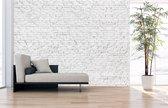 Fotobehang Stenen Muur wit - uit 1 stuk, Naadloos Fotobehang - 1000 x 305 cm (bxh) - op elk formaat leverbaar