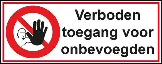 bol verboden toegang voor onbevoegden sticker 26