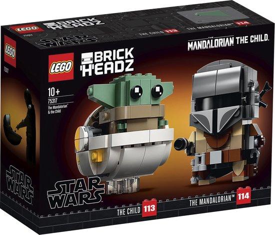LEGO BrickHeadz Star Wars De Mandalorian & Baby Yoda - 75317