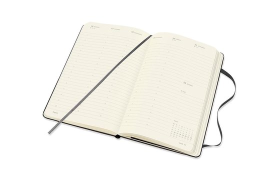 Moleskine 12 Maanden Agenda - 2021 - Professional Wekelijks - Vertical Large (13x21 cm) - Zwart - Harde Kaft