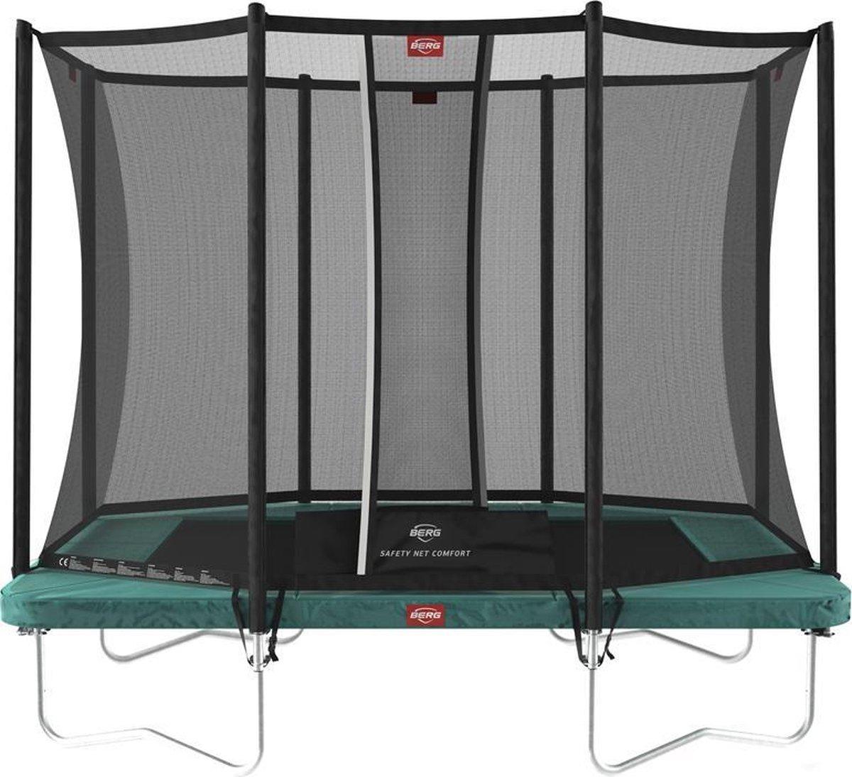 Trampoline - BERG Ultim Favorit 190 x 280 cm + Safety Net Comfort - Groen