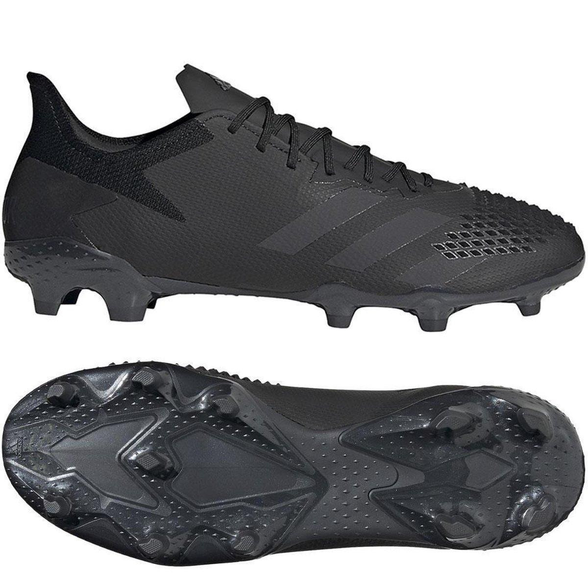 adidas Predator 20.2 FG  Sportschoenen - Maat 42 2/3 - Mannen - zwart Sportschoenen