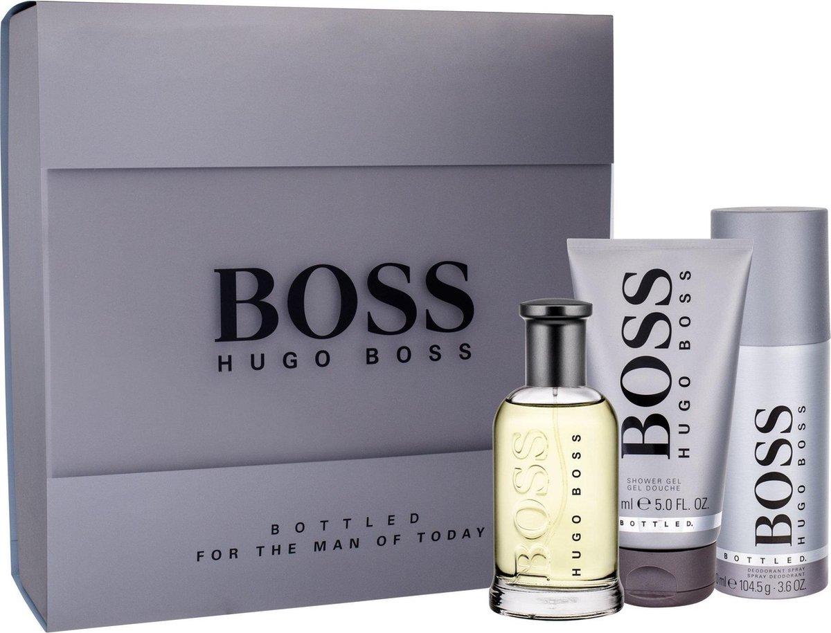 Hugo Boss Boss Bottled 100ml EDT Spray / 150ml Shower Gel / 150ml Deodorant Spray - Hugo Boss