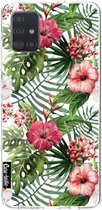 Samsung Galaxy A51 (2020) hoesje Tropical Flowers Casetastic Smartphone Hoesje softcover case