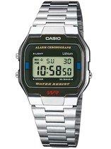 Casio Retro A163Wa-1Qes - Horloge - 33 mm - Staal - Zilverkleurig