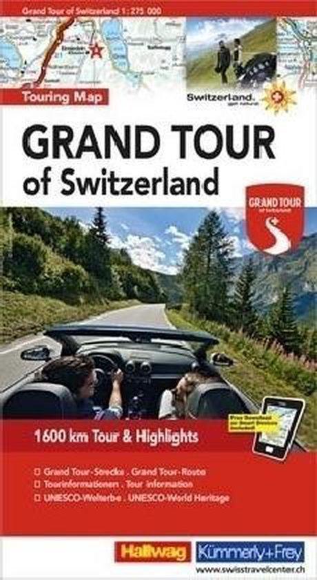 Grand Tour of Switzerland 1 : 275 000 Touring Map