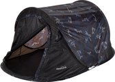 Redcliffs 2 Persoons Pop Up Tent Legerprint - Blauw/ Zwart - 2 Persoons