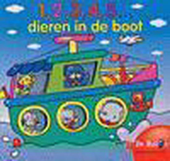 Cover van het boek '1, 2, 3, 4, 5 dieren in de boot'