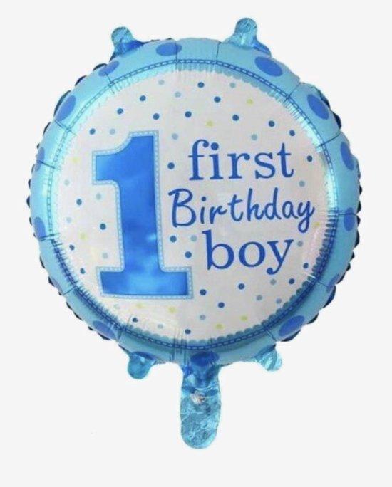 First- birthday boy  ballon -helium-lucht- 18 inch