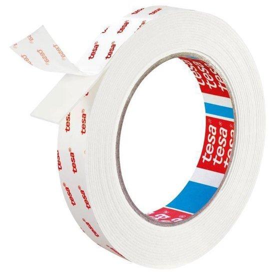 Tesa montagetape dubbelzijdig voor behang & pleisterwerk 10 kg/m - 5 m x 19 mm. - Tesa