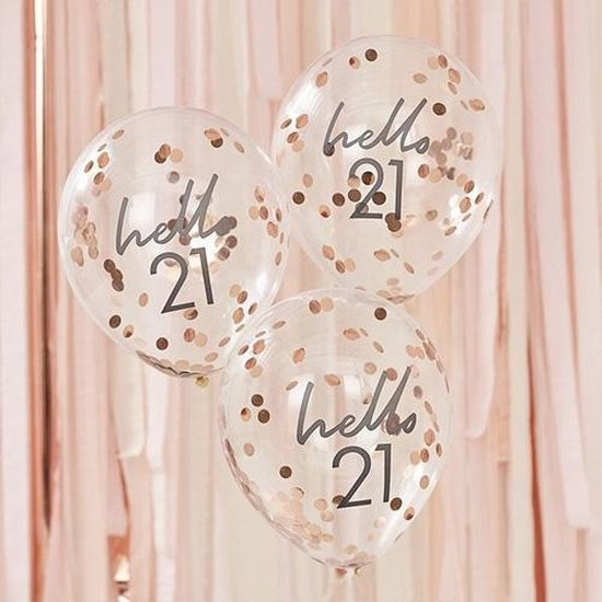 Mix It UP - Confetti Ballonnen HELLO 21 (5 stuks)