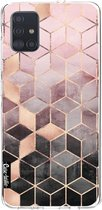 Samsung Galaxy A51 (2020) hoesje Soft Pink Gradient Cubes Casetastic Smartphone Hoesje softcover case