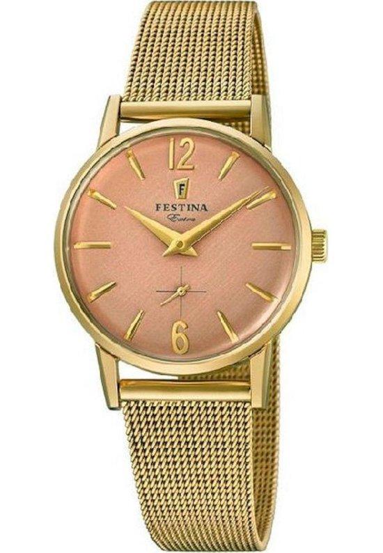 Festina F20259-2 Vintage - Horloge - Staal - Doublé - Ø 29 mm