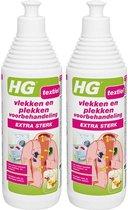 HG Vlek & Plek Voorbehehandeling Extra Sterk - 500 ml   2 Stuks !