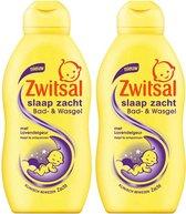 Zwitsal Slaap Zacht Bad- & Wasgel Lavendel - Duo Verpakking2 x 200 ml