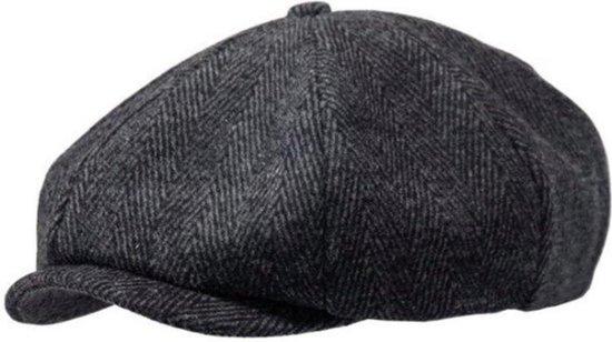 WiseGoods - Premium Flat Cap Heren - Krantenjongen Pet - Peaky Blinders Pet - Paper Boy Cap - New Boys Cap - 58-60 cm - Grijs