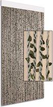 Vliegengordijn/deurgordijn decoratief beige/groen  100x220