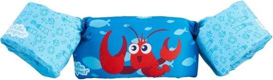 Verstelbare zwembandjes met kreeft - blauw