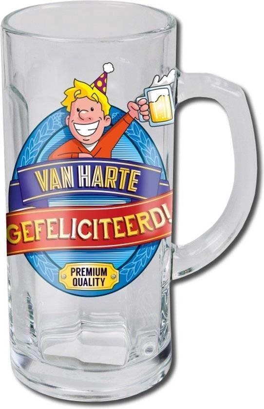 Bierglas - Bierpul - Gefeliciteerd