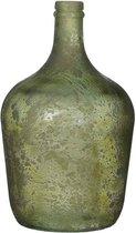 Mica Decorations diego glazen fles groen maat in cm: 30 x 18