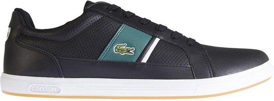 Lacoste Sneakers - Maat 42.5 - Mannen - zwart/blauw/groen/wit