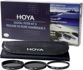 Hoya Digital Filter Kit II 62mm - UV, Polarisatie en NDX8 filter