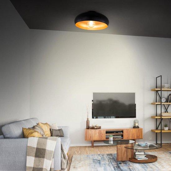 Bol Com B K Licht Plafondlamp Zwart Goud Industrieel Retro Woonkamer O40 Cm