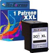 PlatinumSerie® 1 Cartridge/Patronen compatibel voor HP 301 XL Black met chip zodat de vulstand weer gaat