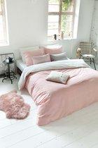 Walra Dekbedovertrek Square Feet 140x200/220 cm roze