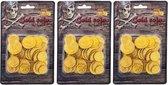 Piraat munten goud 150 stuks - Piraten verkleed accessoire - Gouden speelgoed munten