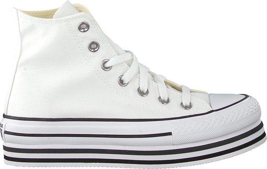 Converse Dames Hoge sneakers Chuck Taylor All Star Plat Hi Wit Maat 41
