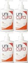 Unicura Vloeibare Handzeep Fris Pomp - 4 x 250 ml Voordeelverpakking