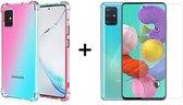 Samsung A51 Hoesje Transparant - Samsung Galaxy A51 Hoesje Transparant Shock Proof Case Hoes - 1x Samsung Galaxy A51 Screenprotector