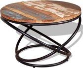 Salontafel 60x60x40 cm massief gerecycled hout